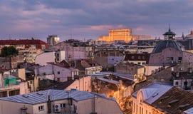 Gammal mitt av Bucharest Royaltyfri Fotografi