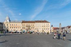Gammal mitt av den Cluj Napoca staden Arkivbilder