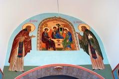 gammal målningsklosterbroder Royaltyfria Bilder