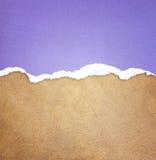 Gammal modell för lädertexturbakgrund och sönderrivet papper för tappning Royaltyfri Foto
