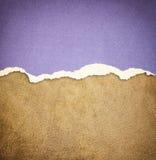 Gammal modell för lädertexturbakgrund och sönderrivet papper för tappning Arkivfoto