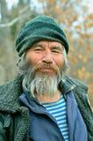 Gammal mongoloid man 36 Arkivfoto
