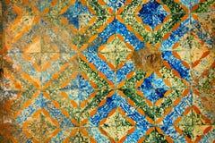 gammal moroccan mosaique Arkivbild