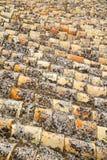 Gammal moroccan tegelplatta i den gamla staden Arkivfoto
