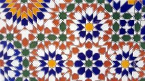 Gammal moroccan väggdesign arkivfoto