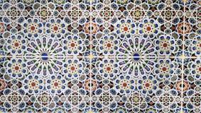 Gammal moroccan väggdesign Royaltyfri Bild