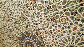 Gammal moroccan väggdesign Arkivbild