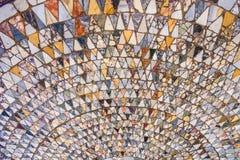 Gammal mosaik flor i Venedig fotografering för bildbyråer