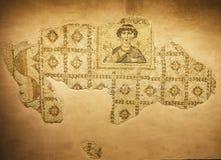 Gammal mosaik i det Hatay arkeologimuseet, Turkiet royaltyfri foto