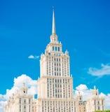 Gammal Moscow skyskrapa Royaltyfri Fotografi
