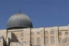 gammal moské för aqsastadsel jerusalem fotografering för bildbyråer