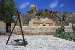 Gammal moské i Bidiya Arkivbild