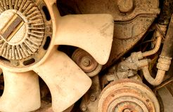 Gammal motor Royaltyfri Fotografi