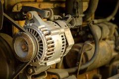 Gammal motor av bilen Royaltyfria Bilder