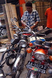 gammal motorbike Arkivbild