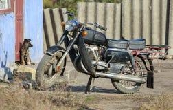 gammal motorbike Fotografering för Bildbyråer
