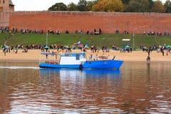 Gammal motorboat fotografering för bildbyråer
