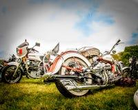 gammal motorcykel Fotografering för Bildbyråer