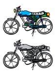 gammal motorcykel Royaltyfria Foton