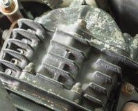 Gammal motorcykelmotor Arkivfoton