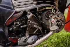 Gammal motormotorcykel Royaltyfria Bilder