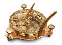 gammal mätande navigering för instrument Royaltyfria Bilder