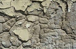 Gammal murbruk på väggen royaltyfria foton