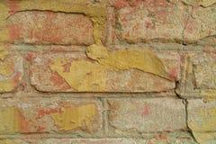 gammal murbrukvägg för tegelsten Royaltyfria Foton