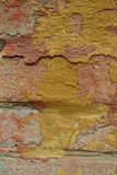 gammal murbrukvägg för tegelsten Royaltyfri Fotografi