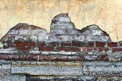 Gammal murbrukvägg som en grungy bakgrund Royaltyfri Bild