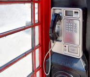 Gammal mynttelefon i Harborne Royaltyfri Fotografi