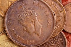 gammal myntvalutaindier Arkivbilder