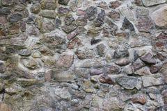 Gammal naturlig stenvägg Arkivbilder