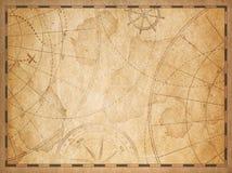 Gammal nautisk översiktsbakgrund stock illustrationer