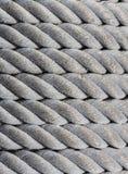 Gammal nautisk rep, textur och bakgrund. arkivfoton