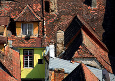 gammal neighbourhood Royaltyfria Bilder