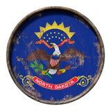Gammal North Dakota flagga Royaltyfria Foton