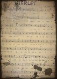 Gammal notblad   arkivbild