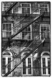 Gammal NYC-byggnad Fotografering för Bildbyråer