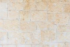 Gammal och åldrig tegelstenvägg Arkivfoton