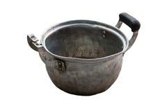 Gammal och bruten matlagningkruka Royaltyfri Bild