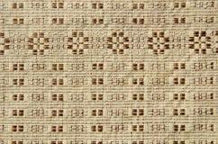 Gammal och dekorativ linnetableclothbakgrund Arkivfoton