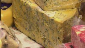 Gammal och gjuten ost lager videofilmer