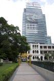 Gammal och ny arkitektur Hong Kong arkivfoto
