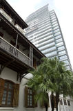 Gammal och ny arkitektur Hong Kong royaltyfri foto