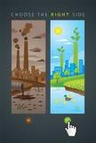 Gammal och ny ekologistad Vektor Illustrationer