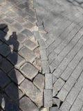 Gammal och ny trottoar Era två av teknologi royaltyfria foton