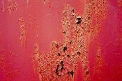 Gammal och rostig röd metall Royaltyfri Fotografi
