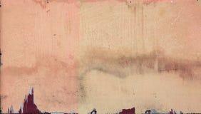 Gammal ojämn målarfärg på den triplex väggen royaltyfria bilder