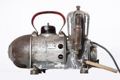 Gammal olje- kompressor Royaltyfri Fotografi